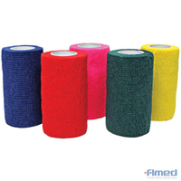 BANDAGE COHESIF 10cm PACK 12 - COULEURS ASSORTIES